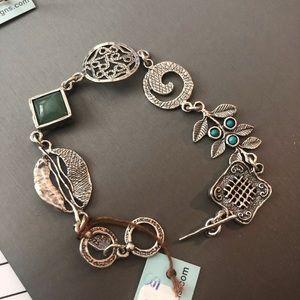 Modern style charm bracelet